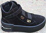 Ботинки женские замшевые на байке от производителя модель КА109, фото 5