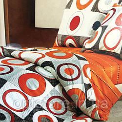 """""""кружочки"""" постельное белье Elway Premium евро размер 200*220 см,ткань сатин 100% хлопок"""