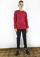 Модный мужской повседневный свитшот на флисе в красном цвете S, M, L, XL, XXL