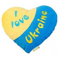 """Подушка-сердечко """"I love Ukraine"""", TIGRES, декоративная подушка,Игрушки новые"""