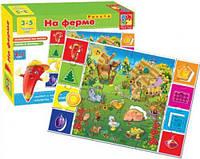 """Игра настольная """"На ферме"""" (рус), Vladi Toys, игрушки для малышей,детские развивающие настольные игры,детские"""
