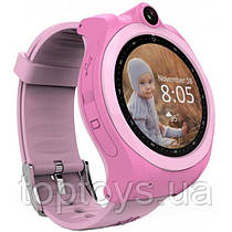 Дитячий телефон-годинник з GPS-трекером GOGPS ME К19 Рожевий (К19РЗ)