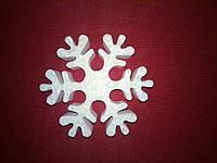 Снежинка из пенопласта 10см (№4)