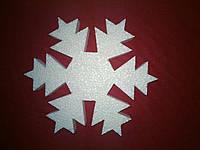 Снежинка из пенопласта 10см (№6)