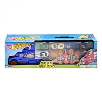 """Машина-автовоз """"Hot Wheels"""", синий, металлические модели,машинка,игрушки для мальчиков"""