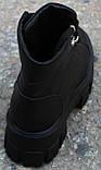 Ботинки женские кожаные на тракторной подошве от производителя модель КА110, фото 4