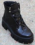 Ботинки женские кожаные на тракторной подошве от производителя модель КА110, фото 2