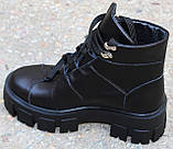 Ботинки женские кожаные на тракторной подошве от производителя модель КА110, фото 3