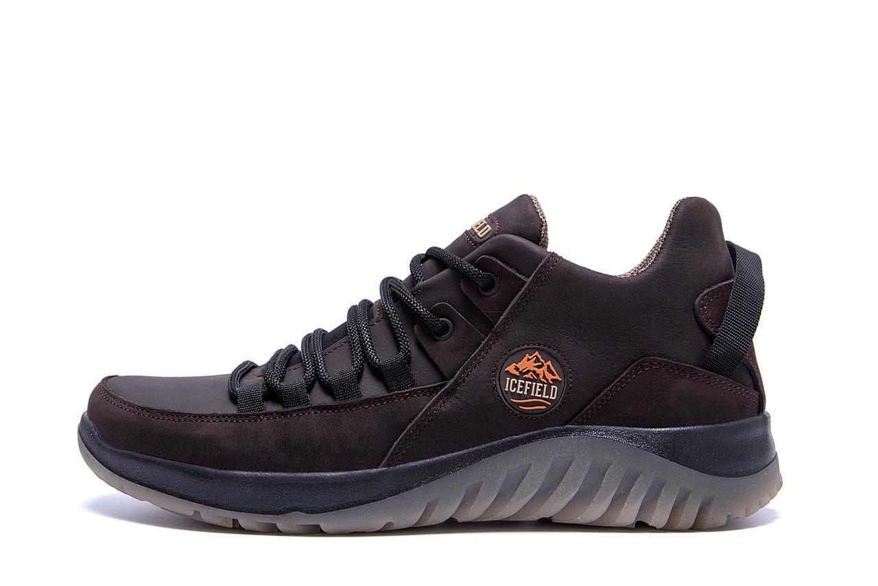 Чоловічі зимові шкіряні кросівки icefield Chocolate Classic р. 40 41 42 43 45