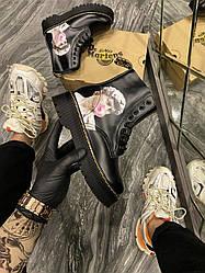 Женские ботинки Dr. Martens Jadone ARt Black демисезонные (черный)
