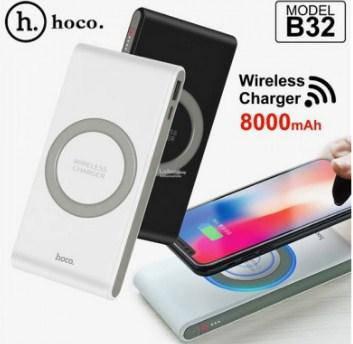 Портативная зарядка (power bank) HOCO 8000mAh B32 + беспроводная зарядка (33)K23(90053)