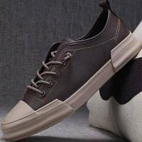 Чоловіче взуття, молодіжні, повсякденні чоловічі шкіряні кеди для чоловіків 4 кол