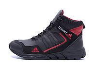 Чоловічі зимові шкіряні черевики Adidas TERREX Black р. 41 42, фото 1