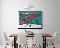 Скретч карта світу Travel Maps Marine World