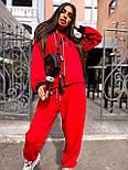 Женский спортивный костюм прогулочный кофта с надписью и штаны - джоггеры (р. 42-46) 5051121, фото 2