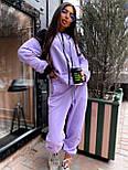Женский спортивный костюм прогулочный кофта с надписью и штаны - джоггеры (р. 42-46) 5051121, фото 8