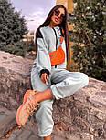 Женский спортивный костюм прогулочный кофта с надписью и штаны - джоггеры (р. 42-46) 5051121, фото 7