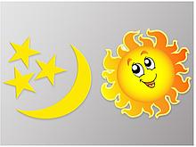 Наклейка для дітей  Сонце та Місяць Вінілова плівка Німеччина