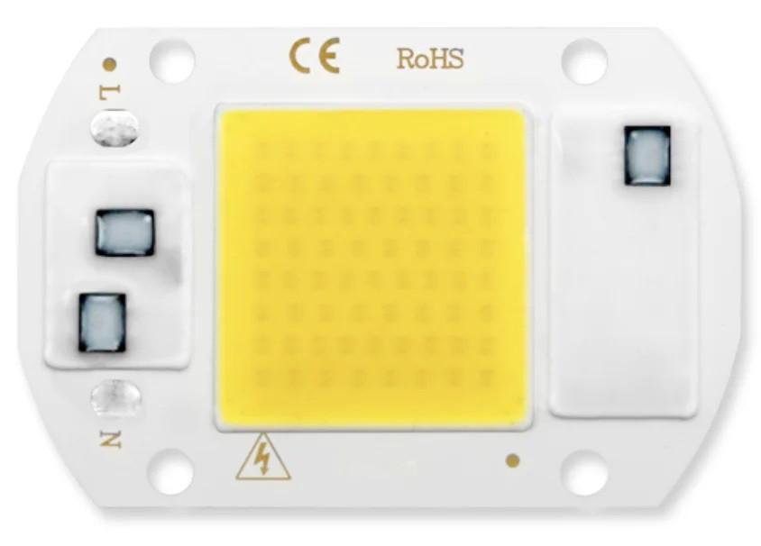 Світлодіод ЛІД, LED 50Вт 220В - теплий білий