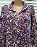 Теплый фланелевый халат 56 размер Фиолет, фото 8