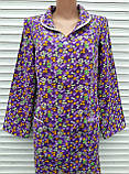 Теплый фланелевый халат 56 размер Фиолет, фото 10