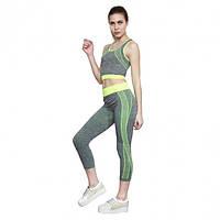 Костюм для фитнеса и йоги Yoga Sets One Size Серый