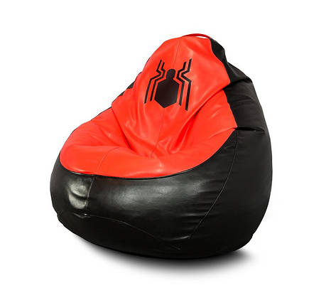 """Кресло мешок груша """"Spider-Man. New logo-Eco"""" Экокожа, фото 2"""