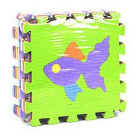 """Коврик-пазл """"Рыбки"""", 9 элементов, коврик-пазл,напольные пазлы коврики,детский коврик пазлы,коврик пазл для"""