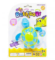 """Игрушка для ванной """"Черепашка"""", голубой, игрушка заводная,игрушки для малышей,детские игрушки"""