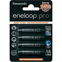 Аккумуляторные батарейки АА аккумулятор Panasonic Eneloop Pro AA 2450 mAh 4 шт