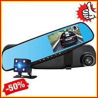 Зеркало видеорегистратор с двумя камерами Vehicle Blackbox DVR 1080p Автомобильный регистратор