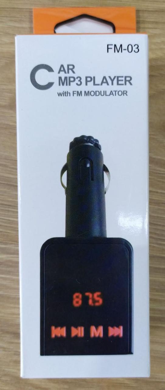 Автомобильный FM-модулятор (трансмиттер) FM03/FM04