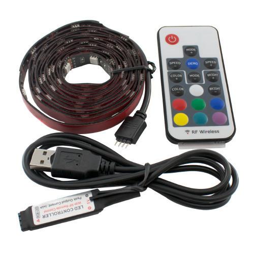 LED RGB 2м лента подсветки ТВ с пультом д/у, USB