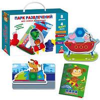 """Игра с болтами """"Парк развлечений"""" (рус), Vladi Toys, игрушки для малышей,детские развивающие настольные"""