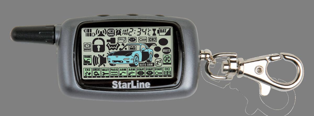 Брелок с ЖК-дисплеем для сигнализации StarLine A9