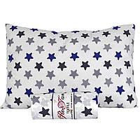 Простынь на резинке с наволочками 180х200 Хлопок Синие Звезды