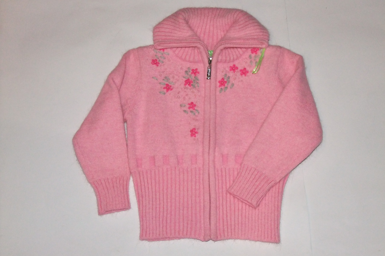 Кофта теплая на девочку розовая Many&Many 8-12 р