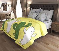 Двухспальный постельный комплект-Кактусы