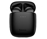 Беспроводные Bluetooth наушники в кейсе BASEUS Encok True Wireless Earphones W04 чёрные