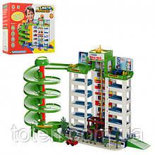 """Детский игровой гараж """"Мега парковка"""" для машинок с лифтом - 6 уровней парковки, 4 машинки 922"""