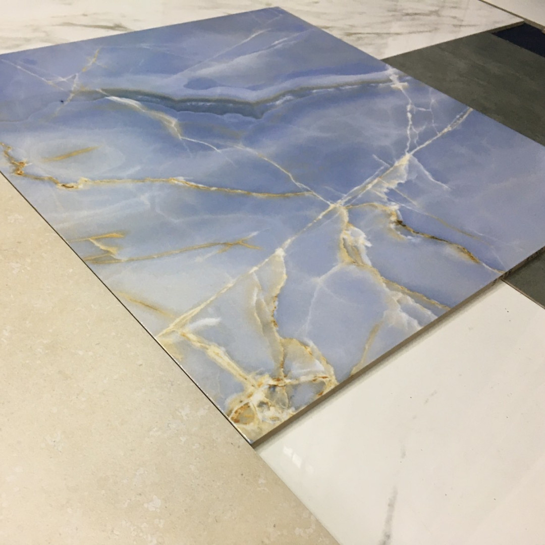 Плитка для пола Onyx Blue 607x607x10 мм 1 сорт