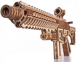 Штурмовая винтовка AR-T Wood Trick (496 деталей) - механический деревянный 3д пазл конструктор, фото 3