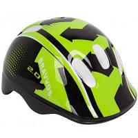 Шлем Velotrade HEL096 черно-салатовый детский (HEAD-006)