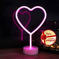 Неоновый светильник Сердце, ночник, лампа неоновая Новинка 2021