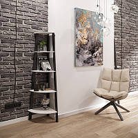 Угол к стеллажу Призма 5 полок Металл-Дизайн