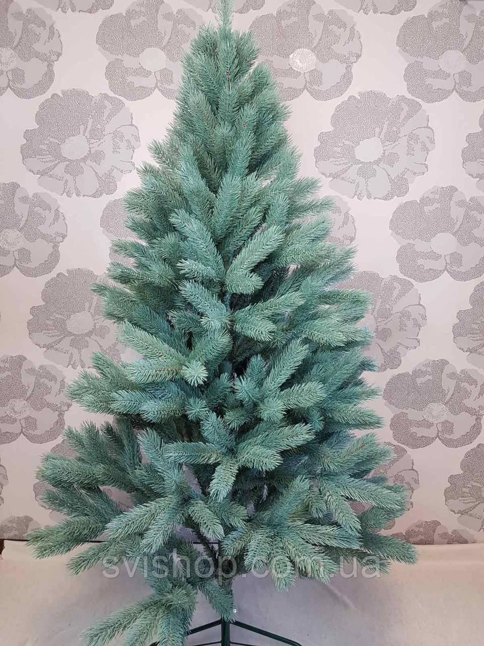 Новорічна штучна ялинка блакитна лита 180 см. '' Буковельська ''