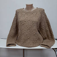 Тепленький женский свитер карамельного цвета 46 р