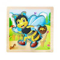 """Дерев'яні пазли-вкладиші """"Бджілка"""" C39029"""