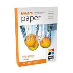 Фотобумага CW глянцевая 200g/m2, A4, 100л, картонная упаковка (PG200100A4)