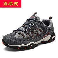 Шкіряні кросівки для походів на відкритому повітрі, нековзні дорожні чоловічі спортивні кроссовки